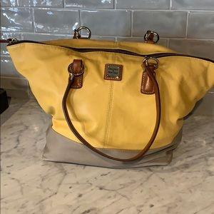 Soft leather Dooney Large Shoulder Bag.